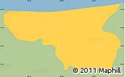 Savanna Style Simple Map of Arambala, single color outside
