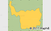 Savanna Style Simple Map of Chilanga, cropped outside