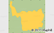Savanna Style Simple Map of Chilanga, single color outside