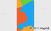 Political Simple Map of Corinto