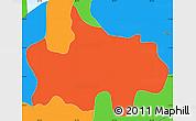 Political Simple Map of Jocoaitique