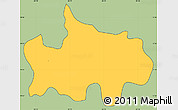 Savanna Style Simple Map of Jocoaitique, cropped outside