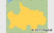Savanna Style Simple Map of Jocoaitique, single color outside