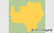 Savanna Style Simple Map of Meanguera, single color outside