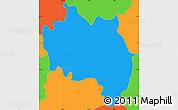 Political Simple Map of San Francisco (Gotera)