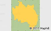 Savanna Style Simple Map of San Francisco (Gotera)