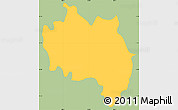 Savanna Style Simple Map of San Francisco (Gotera), single color outside