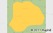 Savanna Style Simple Map of San Isidro, single color outside