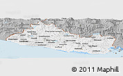 Gray Panoramic Map of El Salvador