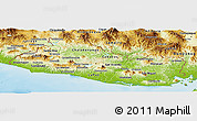Physical Panoramic Map of El Salvador