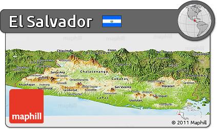 Free Physical Panoramic Map Of El Salvador Satellite Outside - Satellite image photo of el salvador