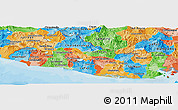 Political Panoramic Map of El Salvador