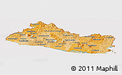 Political Shades Panoramic Map of El Salvador, cropped outside