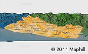 Political Shades Panoramic Map of El Salvador, darken