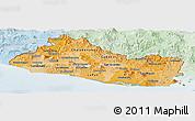Political Shades Panoramic Map of El Salvador, lighten