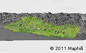 Satellite Panoramic Map of El Salvador, desaturated