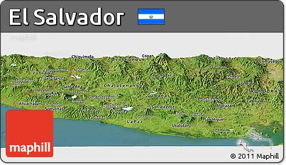 Free Satellite Panoramic Map Of El Salvador - Satellite image photo of el salvador