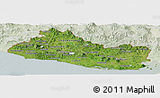 Satellite Panoramic Map of El Salvador, lighten