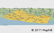 Savanna Style Panoramic Map of El Salvador