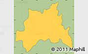 Savanna Style Simple Map of Chinameca, cropped outside
