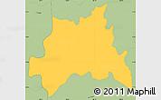Savanna Style Simple Map of Chinameca