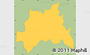 Savanna Style Simple Map of Chinameca, single color outside