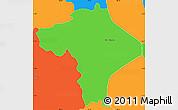Political Simple Map of Ciudad Barrios