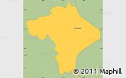 Savanna Style Simple Map of Ciudad Barrios