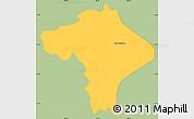 Savanna Style Simple Map of Ciudad Barrios, single color outside
