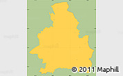 Savanna Style Simple Map of San Miguel, single color outside