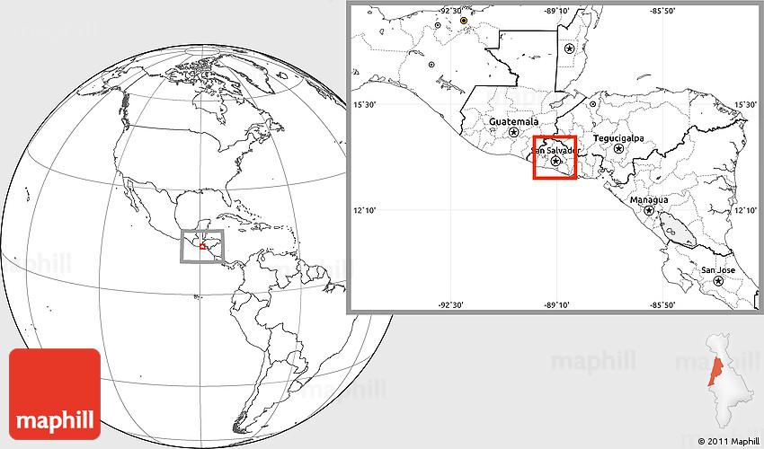 Blank Location Map of Nejapa