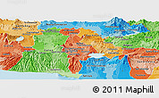 Political Shades Panoramic Map of San Salvador