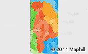 Political Shades Simple Map of San Salvador