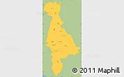 Savanna Style Simple Map of San Salvador, single color outside