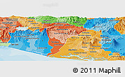 Political Shades Panoramic Map of San Vicente