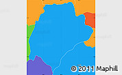 Political Simple Map of San Ildefonso