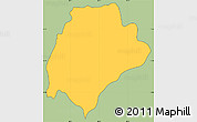 Savanna Style Simple Map of San Ildefonso, cropped outside