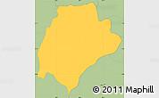 Savanna Style Simple Map of San Ildefonso