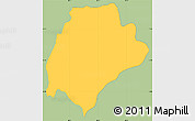 Savanna Style Simple Map of San Ildefonso, single color outside