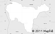 Silver Style Simple Map of San Vicente