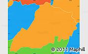 Political Simple Map of Santa Clara