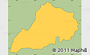 Savanna Style Simple Map of Santa Clara, cropped outside