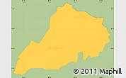 Savanna Style Simple Map of Santa Clara, single color outside