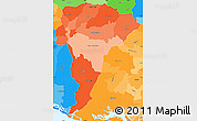 Political Shades Simple Map of San Vicente