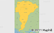 Savanna Style Simple Map of San Vicente