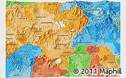 Political Shades 3D Map of Santa Ana