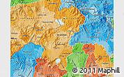 Political Shades Map of Santa Ana