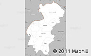 Gray Simple Map of Santa Ana