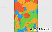 Political Simple Map of Santa Ana