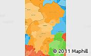 Political Shades Simple Map of Santa Ana